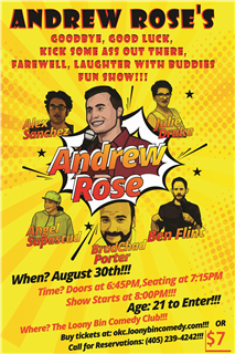Andrew Rose's Farewell Laughter With Buddies Fun Show